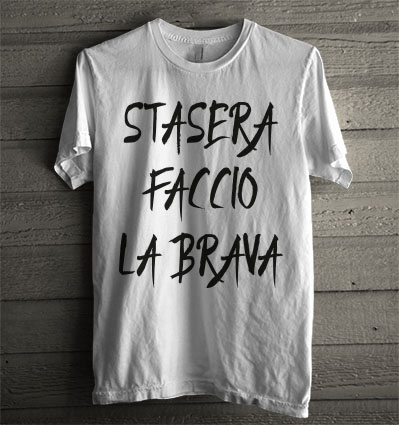 T-Shirt Manica Lunga Uomo Bianca TDM00269 Stasera Faccio LA Brava